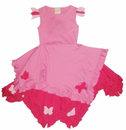 "Lemon Loves Lime Sachet Pink ""Fluttering Wings"" Dress<br>Sizes 3-8"
