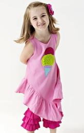 "Lemon Loves Lime Sachet Pink ""Ice Cream"" Dress<br>Sizes 3-7"