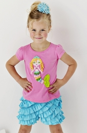 "Lemon Loves Lime Sachet Pink ""Rainbow Mermaid"" Tee<br>Sizes 3-7"
