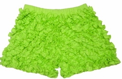 Lemon Loves Lime Sharp Green Ruffle Shorts