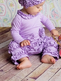 "Lemon Loves Lime Sheer Lilac Classic ""Peony"" Romper"
