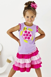 "Lemon Loves Lime Sheer Lilac ""Magical Turtle"" Top<br>Sizes 3-7"