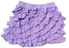 "Lemon Loves Lime Sheer Lilac ""Ruffle"" Skort<br>Sizes 3-10"