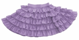 "Lemon Loves Lime Sheer Lilac ""Ruffle Twirl"" Skirt"