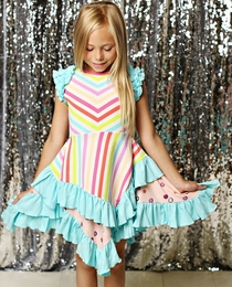 "Lemon Loves Lime Striped ""Magical Mist"" Dress *PREORDER*"