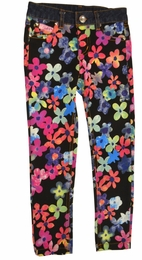 Lipstik Girls Printed Floral Twill Stretch Jeggings *FINAL SALE*