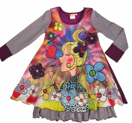 Lipstik Girls Sublimation Knit A-Line Dress<br>*PREORDER*