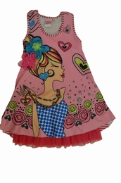 Lipstik Precious Layered Dress w/Girl Face<br>Sizes 4 - 12