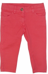 "Little Mass ""Bloom Time"" Super Soft Coral Colored Capris *FINAL SALE*"