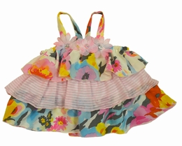 Little Mass Ruffled Floral Print Halter Top<br>Sizes 2T - 6X