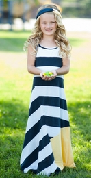 Lollipop Twirl by Lemon Loves Lime Navy Stripe Kites A Line Sundress SOLD OUT!