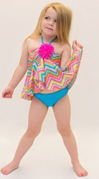 Love U Lots Beautiful Two Piece Zig Zag Tankini