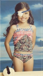 "Maaji ""Birdy Ballerina"" Beautiful Two Piece Tankini Swimsuit<br>Sizes 6 - 16"
