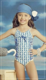 "Maaji ""Blue Box"" Beautiful Blue One Piece Swimsuit<br>Sizes 6 - 16"