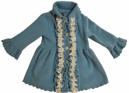 "Mack & Co. Beautiful Patina ""Pearl"" Fleece Ruffle Coat"