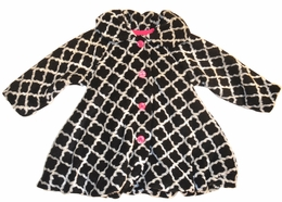 Mack & Co Black and White Super Soft Lattice Print Coat *PREORDER*