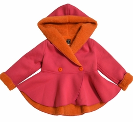 Mack & Co. Fun Pink/Orange Reversible Berber Wrap Coat
