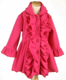 "Mack & Co. Sassy Hot Pink ""Ruffle"" Cozy Coat <br>Sold Out!"