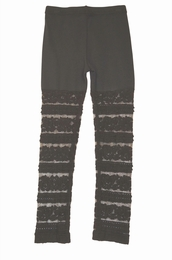 Mae Li Rose Black Knit & Lace Must Have Leggings