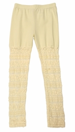 Mae Li Rose Cream Must Have Knit & Lace Leggings SOLD OUT!