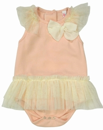Mae Li Rose Pretty in Pink Skirted Baby Onesie