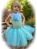 MaeLi Rose Gorgeous Turquoise Tulle Halter Dress w/Removable Daisy Hairclip/Pin *FINAL SALE*