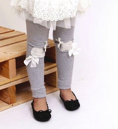 MaeLi Rose Gray Heart Patch Legging