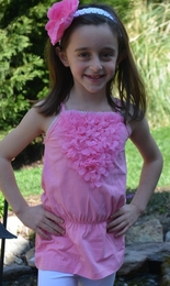 "Mim Pi ""Ballet"" Pink Top With Beautiful Flowerettes *FINAL SALE*"