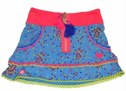Mim Pi Blue and Hot Pink Dotted Skirt *FINAL SALE*