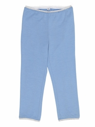 Mim Pi Blue Capri Leggings With Rick Rack Trim *FINAL SALE*