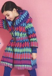 Mim-Pi Colorful Belted Winter Puffer Coat *PREORDER*