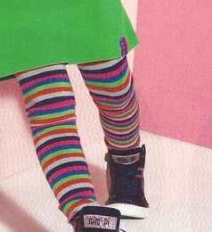 Mim-Pi Colorful Striped Knit Tights