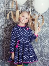 Mim Pi Navy & White Dotted Twirling Dress w/Pocket Mouse! FINAL SALE-MISSIZE
