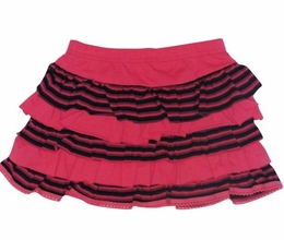 Mim Pi Pretty Pink Tiered Cotton Knit Skirt *FINAL SALE*