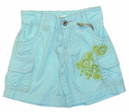 "Mimi & Maggie ""Island Summer"" Aqua Cargo Shorts *FINAL SALE*-SOLD OUT!"