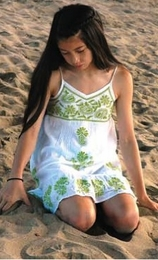 "Mimi & Maggie ""Island Summer"" Green & White Festival Dress *FINAL SALE*<br>Sold Out!"