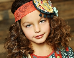 "Mustard Pie Crimson Lace ""Colette"" Headband<br>Sizes Small - Large *PREORDER*"