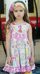 "Mustard Pie Fruit Lavender ""Scrappy Ramona"" Dress<br>Sizes 2T - 12"
