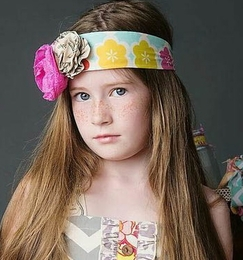 "Mustard Pie Fruity ""Alice"" Head Wrap<br>Sizes XS - L"