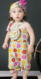 "Mustard Pie Fruity ""Fiona"" Adorable Baby Romper<br>Sizes 3M - 18M"