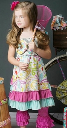 "Mustard Pie Fruity ""Isabella"" Sweet Bustle Dress<br>Sizes 2T - 10"
