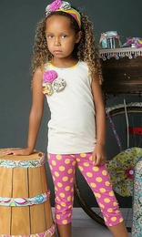 "Mustard Pie Fruity Ivory ""Harper"" Tank<br>Sizes 2T - 8"