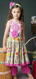 "Mustard Pie Fruity ""McKenna"" Springy Cotton Dress<br>Sizes 3T - 12"