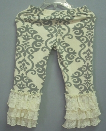 "Mustard Pie Grey Damask ""Tango"" Legging<br>Sizes 2T - 12"