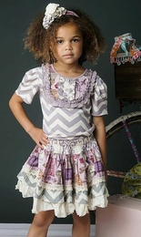 "Mustard Pie Lavender Chevron ""Harper"" Tee<br>Sizes 2T - 12"