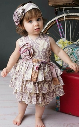 "Mustard Pie Lavender Layered ""Jubilee"" Romper<br>Sizes 3M - 18M"