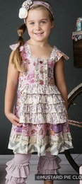 "Mustard Pie Lavender ""Reagan"" Apron Dress *NEW STYLE*<br>Sizes 3T - 12"