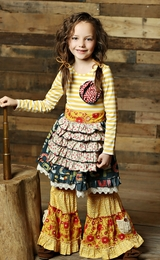 "Mustard Pie Navy Mustard Seed ""Reagan"" Apron Dress<br>  *PREORDER*"