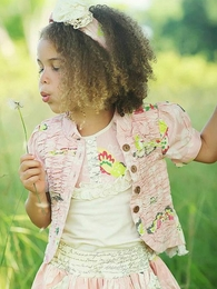 "Mustard Pie Petal Pink ""Alice"" Spring Jacket<br>Sizes 3T - 6"