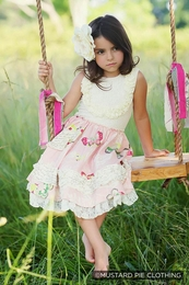 "Mustard Pie Petal Pink ""Gwendolyn"" Twirl Dress *NEW Style*<br>Sizes 2T - 12"